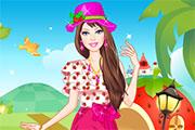 Barbie Strawberry Princess Dress Up